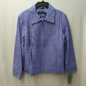 Pamela McCoy Lavender Leather Coat